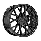 ALLOY WHEEL MSW 74 AUDI TT COUPE Staggered 85x19 5x112 ET 40 GLOSS BLACK c8f