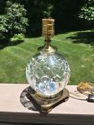 Vintage Small Waterford Crystal Globe Lamp Lismore Signed