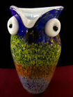 Murano Cased Glass Owl Pitcher 9 1 2 Tall 5 Across Multicolor