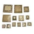 LOT OF 13 Wood Mounted Rubber Stamps FRAMES Large  Small