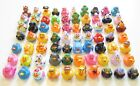 50 NEW ASSORTED RUBBER DUCKS MINI FLOATING DUCKIES KIDS TOY PRIZE 2 SIZE DUCK
