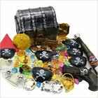 Leadtex Kids Pirate Treasure Chest Vintage Box with AccessoriesSilver