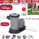 1500 GPH Filter Pump for Above Ground Swimming Pool 58390E+1Filter Cartridge