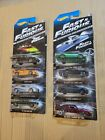 Hot Wheels Fast  Furious Set of 8 2013 edition