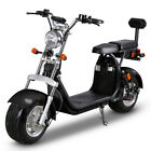 SoverSky Electric Scooter 2000W 60V Lithium Fat Tire Citycoco Moped Black SL10