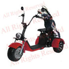 SoverSky Electric Moped for Adults 2000w Lithium Scooter Tricycle T71 Red