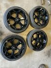 Ford Focus St Style Wheels Black With Tyres 5x108