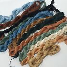 Lot of 12 Needlepoint Silk Embroidery Floss Thread Rich Colors Nice Gloss