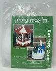 Mary Maxim Musical Carousel Plastic Canvas Kit Holiday Christmas WITH HORSES