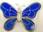 Vintage Stained Glass Hanging Panel Ornament Butterfly Suncatcher