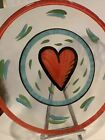 KOSTA BODA Ulrica Hyman UHV Red Heart 13 Hand Painted Glass Plate New Tags