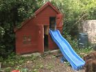 Two story Wooden playhouse / Wendyhouse With Slide