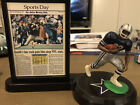 Vintage Emmitt Smith Starting Lineup Figurine With Newspaper Clipping And Stand