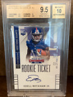 2014 Contenders Odell Beckham Jr. Autograph Rookie Ticket Auto RC BGS 9.5 Browns