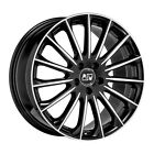 ALLOY WHEEL MSW 30 FOR AUDI RS4 8x18 5x112 ET 45 GLOSS BLACK FULL POLISHED 304