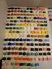 Lot Of 241Mixed Embroidery Floss Thread Cards DMC Anchor