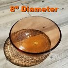 Used 1st QUALITY  8 Copper Medium Bowl  Fire and Light Glass