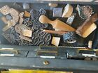 Large lot various wooden stamps