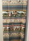 Vintage Colonial Life People Horse Sheep Country Fabric Concord Kessler 1 2 YD