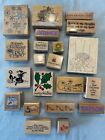 21pc Rubber Stamp Lot Mounted Hero Arts Stampendous Sweet Arts Stampcraft
