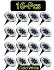 1 16 PACK 8 LED Solar Power Flat Buried Light In Ground Lamp Outdoor Path Garden