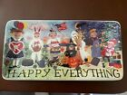 Melissa McLeod HAPPY EVERYTHING 12 Display Dessert Tray Platter Excellent Cond