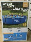 Summer Waves Pool 15ft x 33in Active Frame Above Ground Swimming Pool Set NEW