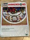 Dimensions Counted Cross Stitch KIT Christmas Ingredients 45 Tree Skirt 8646