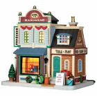 LEMAX Christmas Village Hudson's Hardware Tools Paint Wood Lighted Building NEW
