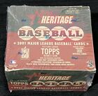 2001 TOPPS HERITAGE BASEBALL FACTORY SEALED BOX 24 PACKS RARE REAL ONE AUTO !