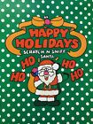 vintage 80s Spindex Scratch  Sniff gingerbread scent gift wrap paper full sheet
