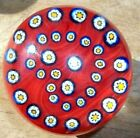 Vintage Gentile Glass Magnum Size Millefiori Glass Paperweight Beauty