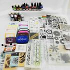HUGE LOT Clear  Cling Stamps Ink Pads  Refills Embossing Plates New  Used