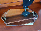 Antique Etched Beveled Glass Vanity Mirror Tray 1920s 18 x 10