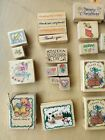 Hero Arts 25 Wooden Rubber Stamps Lot