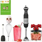 800W 5 in 1 Immersion Hand Blender Handheld 12 Speed Control Multifunctional