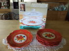 Pioneer Woman Winter Bouquet Cake Plate with Glass Dome  Six Cake Plates NEW