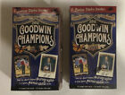 Two box lot of 2012 Upper Deck Goodwin Champions Factory Sealed Blaster Box