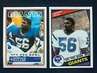 (2) 1983 & 1984 Topps LAWRENCE TAYLOR Giants NFL Football 2nd & 3rd Year Cards