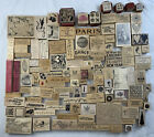 Lot of Rubber Stamps Vtg Collection Flowers Nature Art Birds Mixed New Used