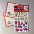 scratch  sniff Smile Vintage 80s SPINDEX banana cherry stickers  Stationary