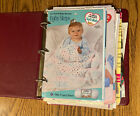 Lot of 199 Crochet Project Sheets Afghans Baby Clothes Layette
