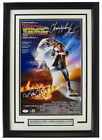 Michael J Fox Lloyd Signed Framed 11x17 Back to the Future Movie Poster PSA BAS