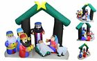 6 Foot Tall Christmas Inflatable Nativity Scene Manger Set with Three Kings