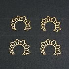 Brass Open Sun Charms Unique Earring Component Finding For Jewelry Making