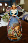 Jim Shore A Star Shall Guide Us Angel W Nativity Scene Gown Figurine C4003273