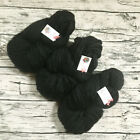 Lot of 3 Knit Collage Sister Yarn Black 100 Wool Retails for 33 p skein