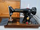 SEMI INDUSTRIAL SINGER 201K SEWING MACHINE SERVICED ELECT PAT TESTsew LEATHER