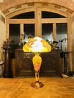 Vintage French Cameo Glass Table Lamp By La Rochere Art Nouveau Style