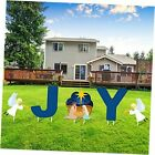 5 Pieces Holy Nativity Yard Sign Outdoor Lawn Decorations Christmas Scene Yard